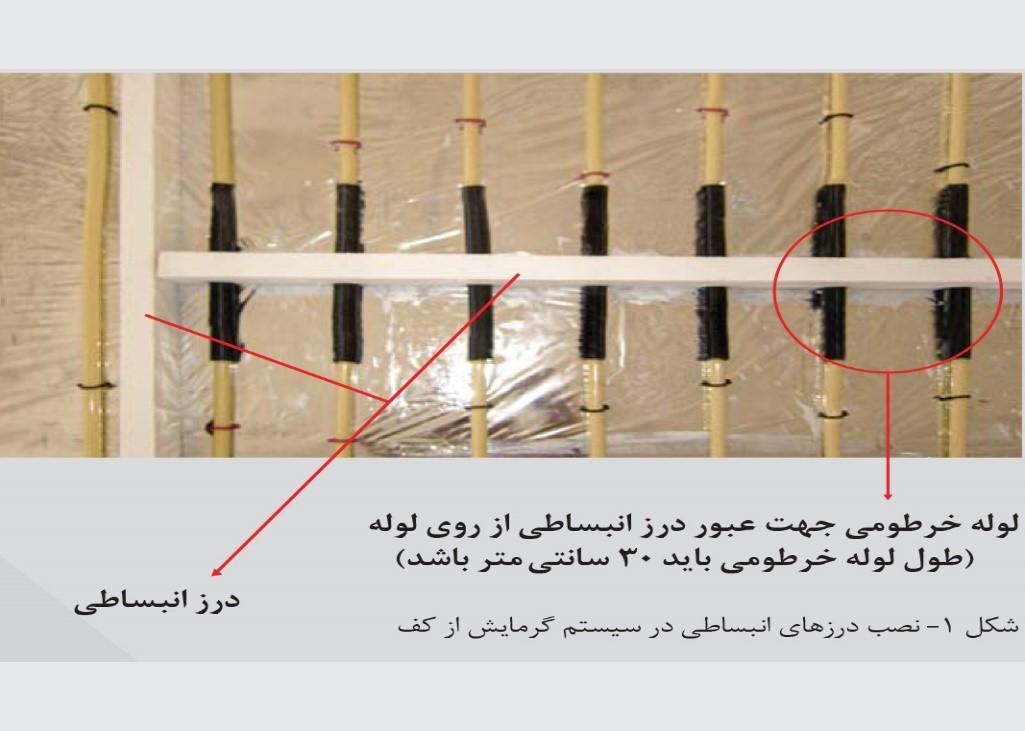 نصب درز انبساطی در سیستم گرمایش از کف